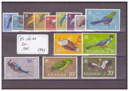 OUGANDA - No MICHEL 87-100 ** ( SANS CHARNIERE )  - !!! WARNING: NO PAYPAL!!! - COTE: 100 € - Ouganda (1962-...)