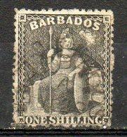 AMERIQUE CENTRALE - BARBADE - (Colonie Britannique) - 1861 - N° 13 - 1 S. Noir - (Britannia) - Antilles
