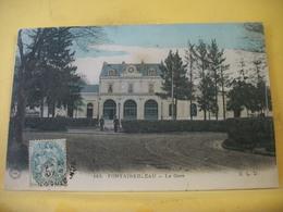 L11 4939 CPA COLORISEE 1906 - 77 FONTAINEBLEAU. LA GARE. EDIT. E.L.D. N° 143 - ANIMATION. - Gares - Sans Trains