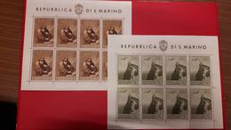 San Marino 1944 Foglietti Pro Case Popolari N°4+5 Nuovi** Cod.fra.1153 - San Marino