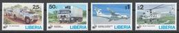 Liberia 1995 Mi# 1643-46** TRANSPORT, UN 50th ANNIV. - Liberia