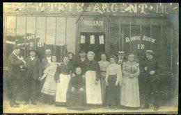 """Cp Photo  St Ouen   Café  """"Tête D'Argent""""   Rue Des Rosiers,  Beau Plan - Saint Ouen"""