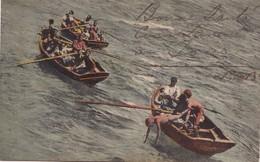 MERGULHADORES. S.VICENTE, CABO VERDE. GIUSEPPE. FRUSONI. CIRCULEE A ARGENTINE CIRCA 1900s. TIMBRE ARRACHE- BLEUP - Cap Vert