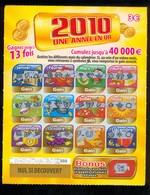 FDJ - FRANCAISE DES JEUX - 2010 UNE ANNEE EN OR 47801 Repère De Bande 000 - Billets De Loterie