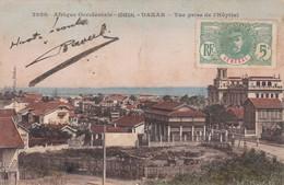 AFRIQUE OCCIDENTALE. SENEGAL. DAKAR. VUE PRISE L'HOSPITAL. FORTIER. CIRCULEE CIRCA 1913 A ARGENTINE- BLEUP - Senegal