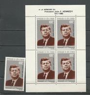 COTE IVOIRE Scott C29, C29a Yvert PA33, BF3  (1+bloc) ** Cote 18,00 $ 1964 - Côte D'Ivoire (1960-...)