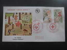 FRANCE FDC Croix Rouge 29-11-1975 Le Creusot - FDC