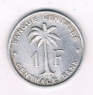 1 FRANC 1960  BELGISCH CONGO /8598/ - Congo (Belge) & Ruanda-Urundi