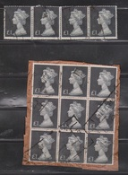 GREAT BRITAIN Scott # MH21 Used Multiples - 1 Pound Value 1 With Crease - 1952-.... (Elizabeth II)