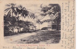 THE GARRISON AT MORNE FORTUNE. ST LUCIA. WJ. M& D. CIRCULEE 1910 A ARGENTINE- BLEUP - Saint Lucia