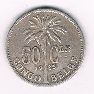 50 CENTIMES 1925  BELGISCH CONGO /8600/ - Congo (Belge) & Ruanda-Urundi