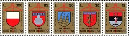 San Marino 1974 Serie Stemmi Araldici - Nuovi