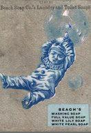 CHROMO USE BEACH SOAP CO.'S LAUNDRY AND TOILET SOAP  ON S'ACCROCHE A LA BULLE - Kaufmanns- Und Zigarettenbilder