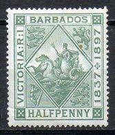 AMERIQUE CENTRALE - BARBADE - (Colonie Britannique) - 1897 - N° 61 - 1 P. Vert - (Sceau De La Colonie) - Antilles