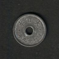 Japan Y#63 1944 5 Sen - Japon