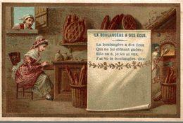 CHROMO LA BOULANGERE A DES ECUS - Kaufmanns- Und Zigarettenbilder