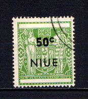 NIUE    1967    Decimal  Currency   50c  Pale Yellow  Green    USED - Niue