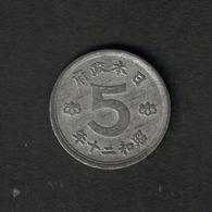 Japan Y#65 1945 5 Sen - Japon