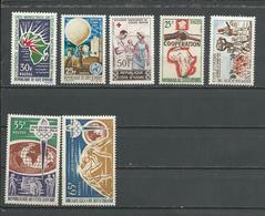 COTE IVOIRE Scott 212, 213, 214, 215-6, 221, 222 Yvert 222, 223, 224, 225-6, 228, 229  (7) ** Cote 13,50 $ 1964 - Côte D'Ivoire (1960-...)