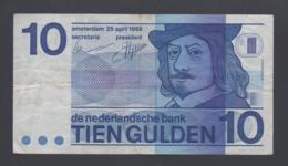 Banconota OLANDA 10 Gulden 25/4/1968 (circolata) - Nederland