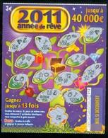Grattage FDJ - FRANCAISE DES JEUX - 2011 ANNEE REVE 47802 - Billets De Loterie