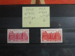 Palais Du Luxembourg - N°803 & 804 (8 Val) (1948) - Coté 4,80€ - France