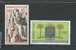 COTE IVOIRE Scott C27, C28 Yvert PA31, PA32  (2) ** Cote 8,00 $ 1964 - Côte D'Ivoire (1960-...)