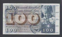 Banconota 100 Franchi - Svizzera 24/1/1972 Circolata - Suisse