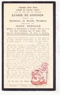 DP Elodie De Coninck / Myngheer ° Noordschote Lo Reninge 1870 † 1933 X J. DeBacker - Images Religieuses