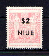 NIUE    1967    Decimal  Currency   $2  Light  Pink    MNH - Niue