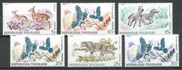 Togo YT N°543/548 Animaux Neuf ** - Togo (1960-...)