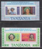 TANZANIA Scott # 269a, 270a MNH - Queen Mother 85th Birthday - Tanzanie (1964-...)