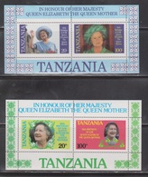 TANZANIA Scott # 269a, 270a MNH - Queen Mother 85th Birthday - Tanzania (1964-...)