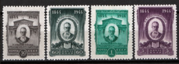 Russia 1944 Unif. 960/63 */MH VF - 1923-1991 URSS