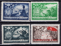 Russia 1944 Unif. 924/27 */MH VF - 1923-1991 URSS