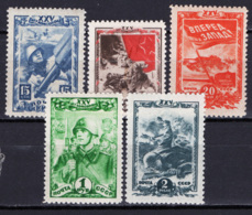 Russia 1943 Unif. 919/23 */MH VF/F - 1923-1991 URSS