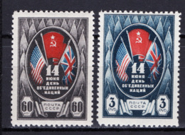 Russia 1943 Unif. 915/16 */MH VF - 1923-1991 URSS