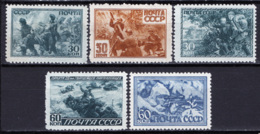 Russia 1943 Unif. 888/92 */MH VF/F - 1923-1991 URSS