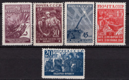 Russia 1942 Unif. 866/70 */MH VF/F - 1923-1991 URSS