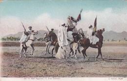 SUD ALGERIEN. UNE FANTASIE. CHEVAL BATAILLE. J. GEISER. CIRCA 1910s. VOYAGEE- BLEUP - Algerije