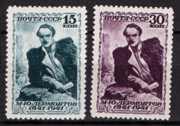 Russia 1941 Unif. 843/44 */MH VF/F - 1923-1991 URSS