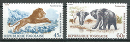 Togo Poste Aérienne YT N°81/82 Animaux Neuf ** - Togo (1960-...)
