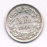 1/2 FRANC 1966 ZWITSERLAND /8609/ - Suisse