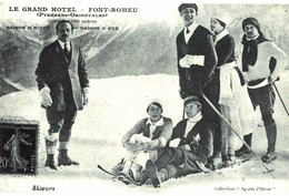 CPA N°24489 - LE GRAND HOTEL - FONT ROMEU - SAISON D' HIVER - SAISON D' ETE - REPRODUCTION - France