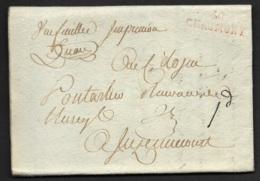 Haute Marne-Lettre (Circulaire Mobilier National)-Marque Linéaire 50 CHAUMONT (31*9) - Marcophilie (Lettres)