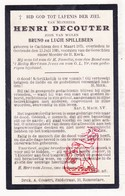 DP Henri DeCouter / Spillebeen ° Kachtem Izegem 1875 † Oostende 1925 - Images Religieuses