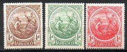 AMERIQUE CENTRALE - BARBADE - (Colonie Britannique) - 1916-18 - N° 103 à 105 - (Nouveau Sceau De La Colonie) - Antilles