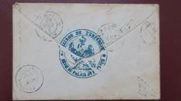 Lettre De St Cloud 1868 Pour Frasne Au Dos Cachet Bleu Aigle Imperial Maison De L'Empereur Regie Palais De St Cloud - Marcophilie (Lettres)