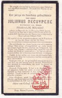 DP Julianus Decuypere ° Diksmuide 1865 † Ieper 1927 X P. Bekaert / Begr. Boezinge - Images Religieuses