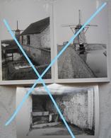 Photox3 MOERES Les Moeres De Panne MOLEN Moulin Mühle 1970 - Places